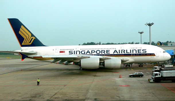 Singapore Airlines A380 NYC