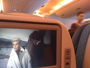 Kim Novak emoting on the A380