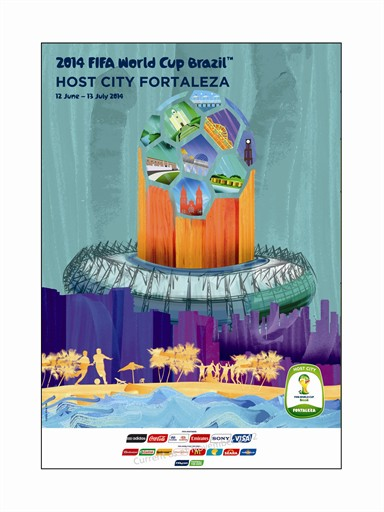 World Cup Poster Fortaleza