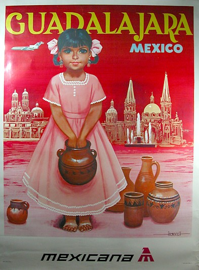 Mexicana travel poster 1970
