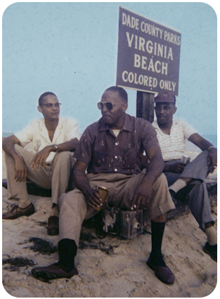Hanging out on Virginia Key, Miami's main beach for black residents during segregation