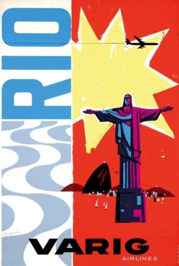 Varig Airlines Travel Poster Rio1