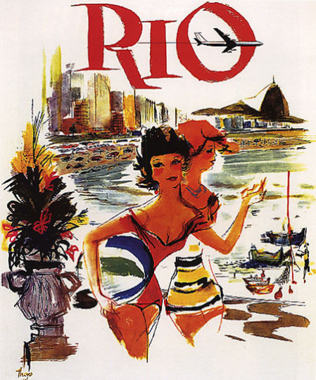 Varig Airlines Travel Poster Rio2
