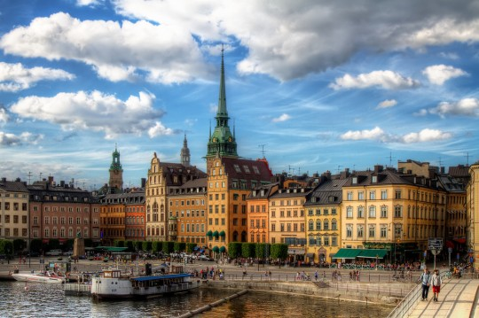 Stockholm's historic Gamla Stan. Photo courtesy of Pedro Szekely via Flickr.